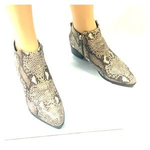 UNISA Faux Snakeskin Ankle Boots